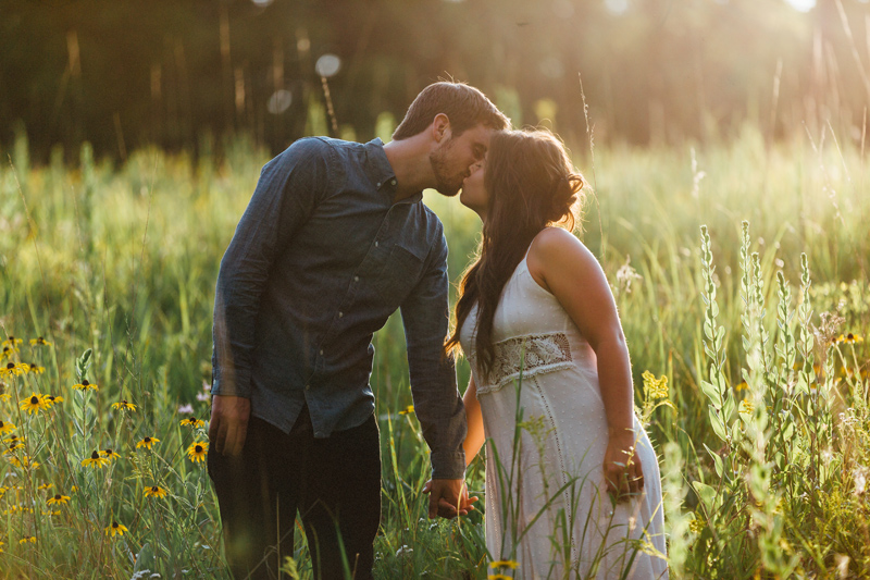Illinois Sunset Engagement Shoot