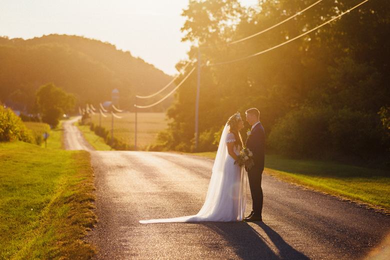 sugarland wedding sunset portrait