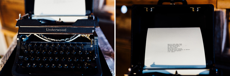 sugarland wedding typewriter collage
