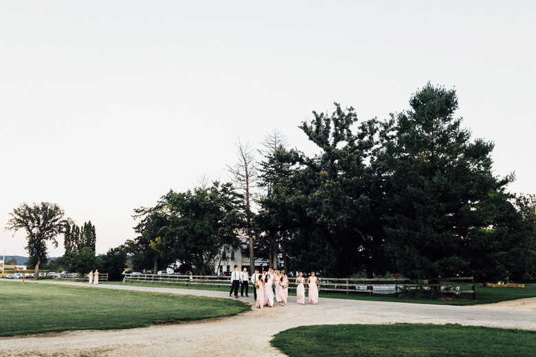 sugarland wedding bridal party walking