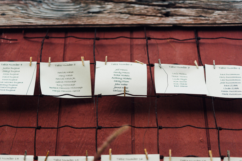 sugarland wedding table place cards