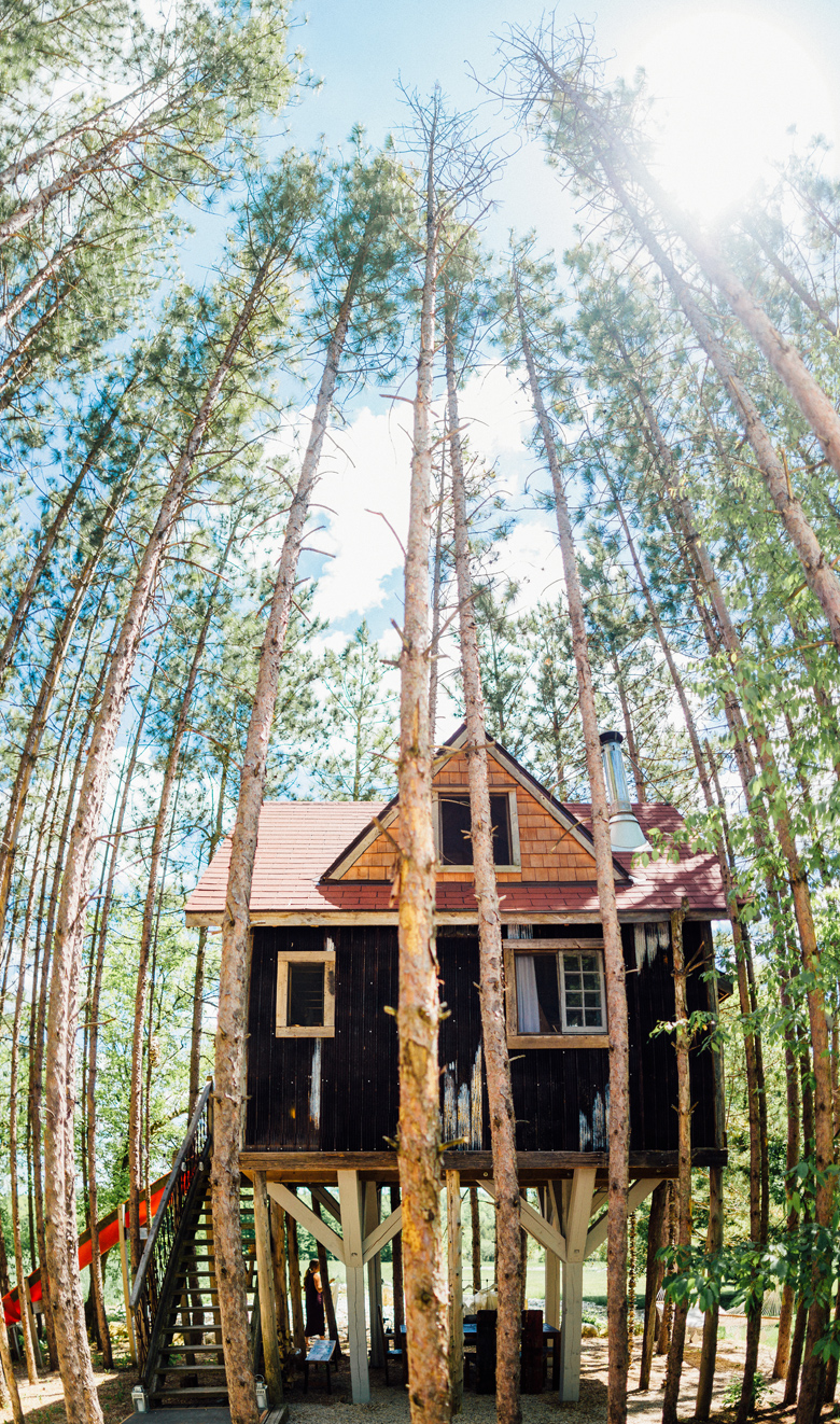 forest wedding tree house