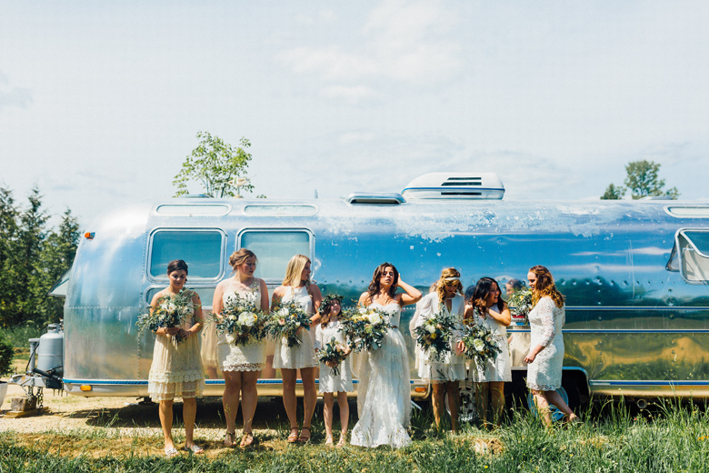 forest wedding airstream