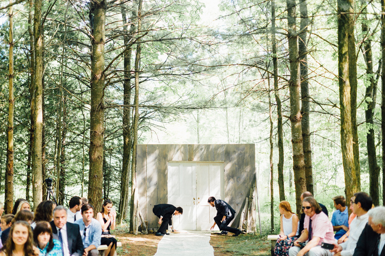 forest wedding ceremony