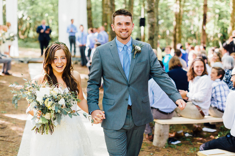forest wedding ceremony - Cling & Peck
