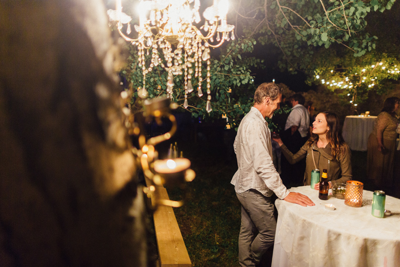 forest wedding reception
