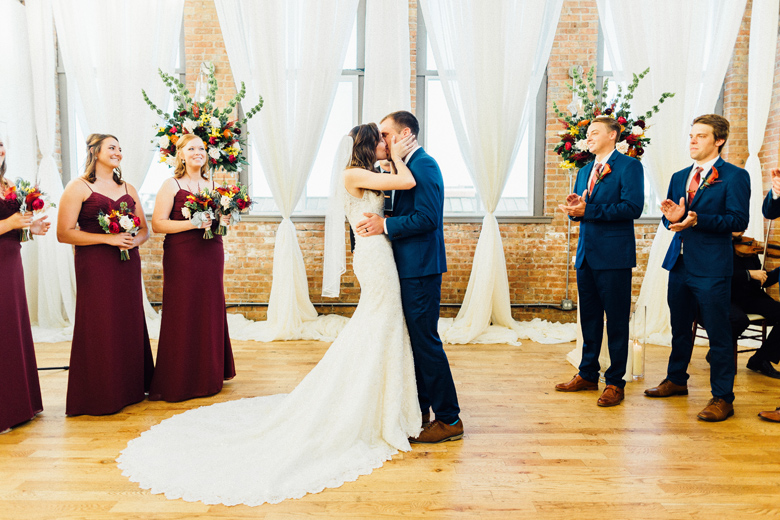city view loft wedding ceremony