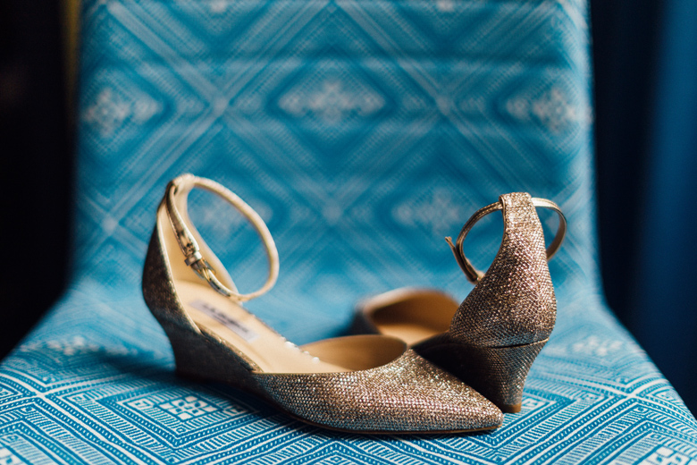 Honky Tonk BBQ Secret Garden wedding shoes