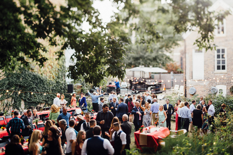 Honky Tonk BBQ Secret Garden wedding ceremony