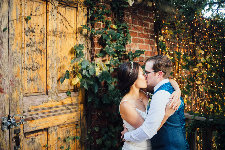 Honky Tonk BBQ Secret Garden wedding portraits