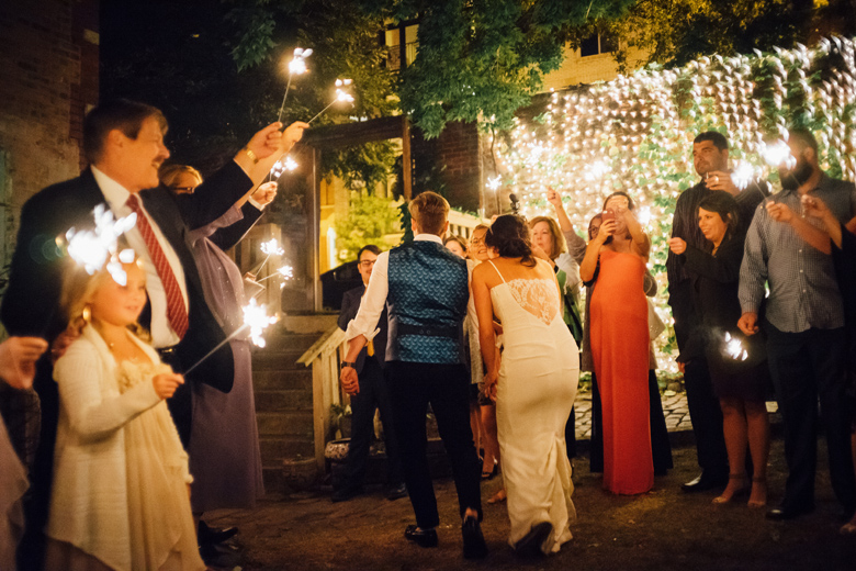 Honky Tonk BBQ Secret Garden wedding reception