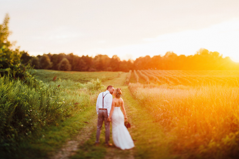 hidden vineyard wedding portrait