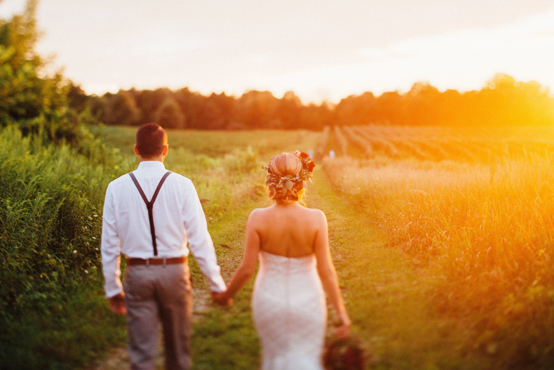 hidden vineyard wedding portraits sunset