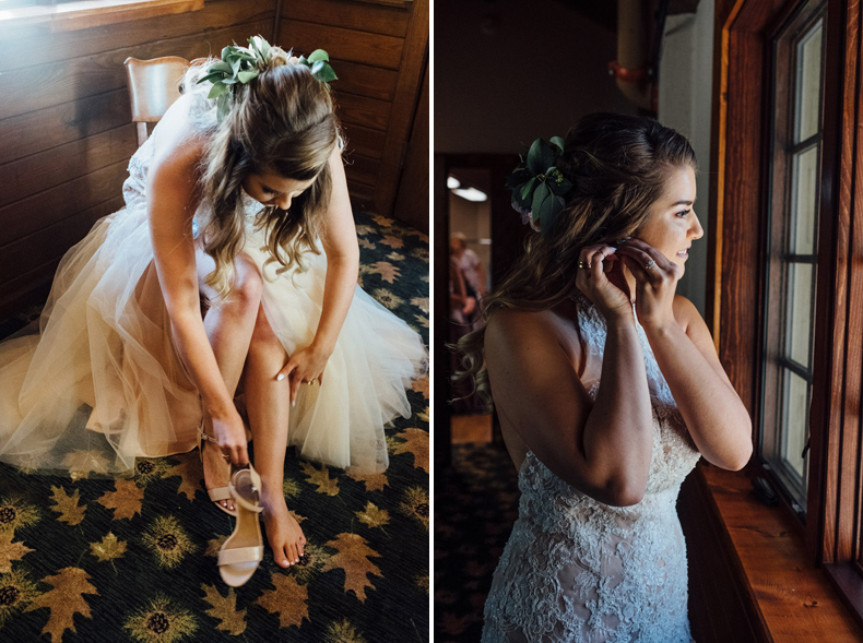 starved rock bride getting ready