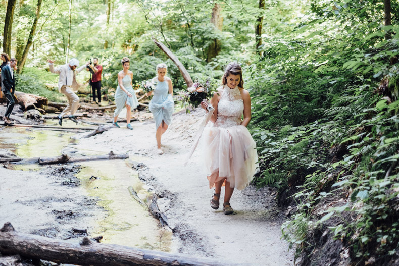 starved rock wedding first look