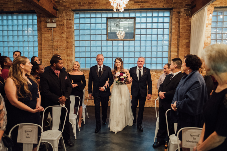 brique chicago wedding ceremony