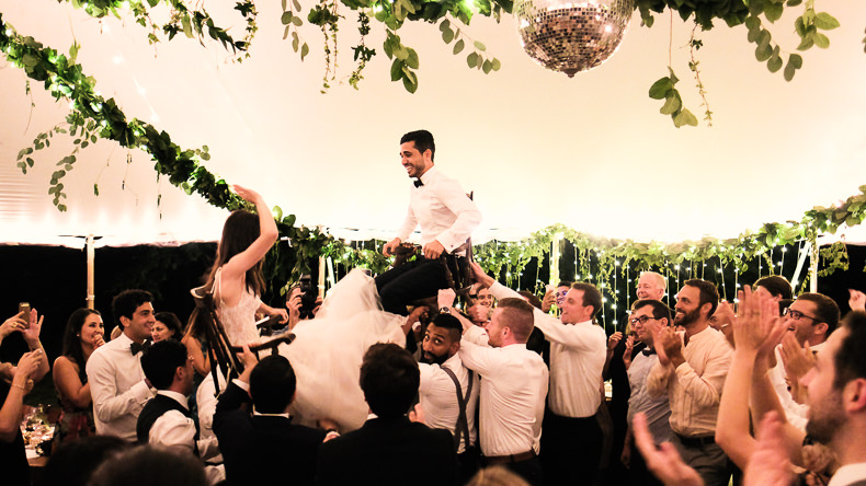 Foxfire Mountain Wedding Video on chairs dancing