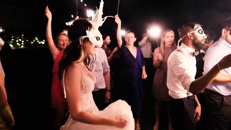 Foxfire Mountain Wedding Video bride with rabbit mask