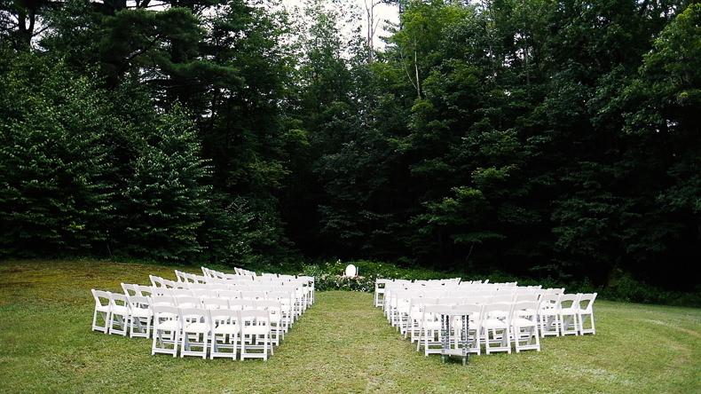 Foxfire Mountain Wedding Video ceremony spot with empty chairs