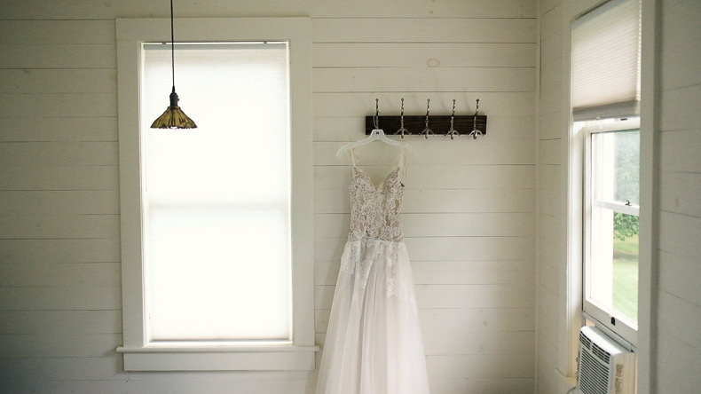 Foxfire Mountain Wedding Video wedding dress shot