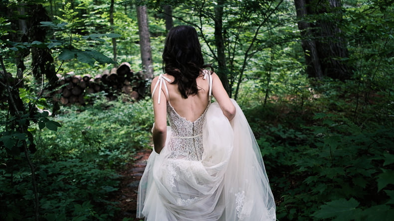 Foxfire Mountain Wedding Video bride in forest