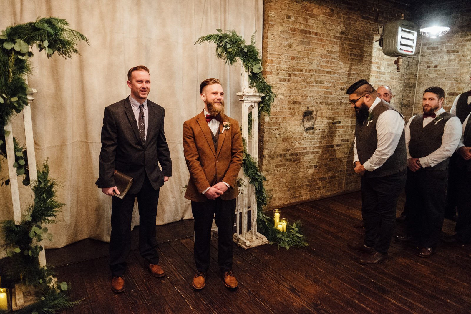 The Haight Wedding ceremony