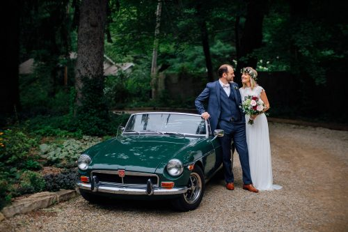 Goldberry woods wedding vintage car